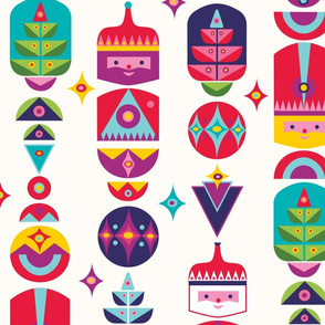 Christmas Crackers Repeat Pattern