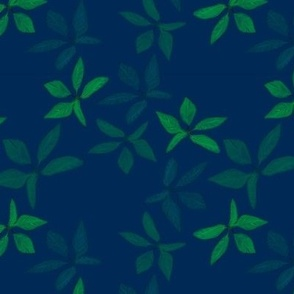 Kathrins_Papier_christmas_leaves_blue