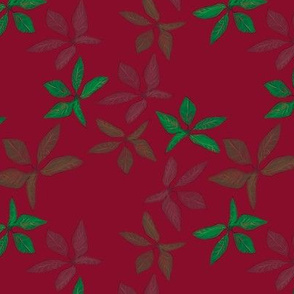 Kathrins_Papier_christmas_leaves_pink