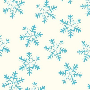 Painted Snowflakes Blue