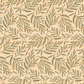 Creamy Neutral Leaves - Medium