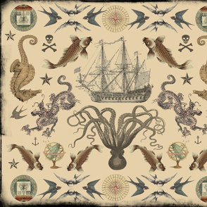Nautical Tattoo Mandala