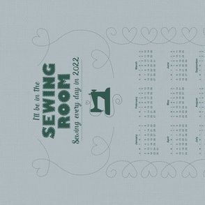 2021 Calendar - Sewing Every Day - Mint