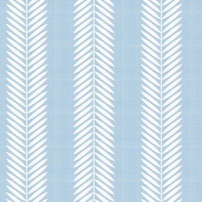 Half Scale Laurel Leaf Stripe in Custom Blue