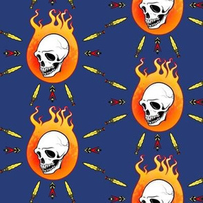 Flaming Skull and Daggers