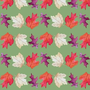 Falling Leaves Print-Green