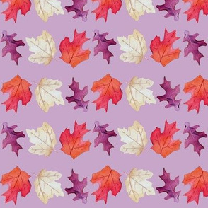 Falling Leaves Print-Purple