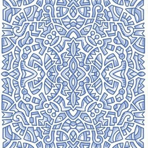 201910 blue doodle vertical half drop
