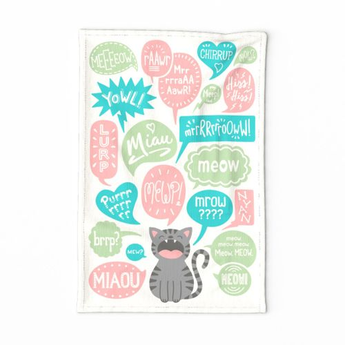 Do You Speak Cat? Tea Towel