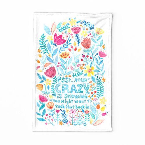 Cute 'n Crazy Tea Towel