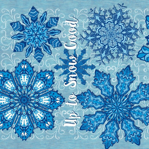 Up to Snow Good Snowflake, Tea Towel