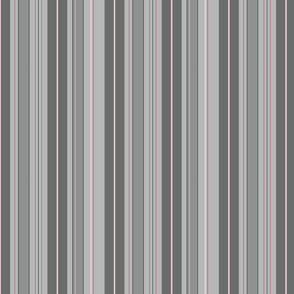 Grey and Pink Stripes