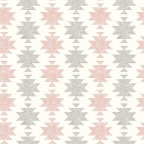 woven aztec - silk pink and stone  - LAD19