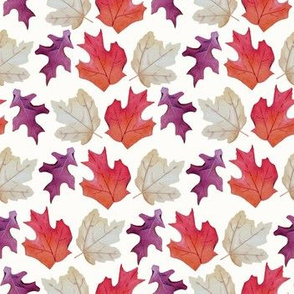 Falling Leaves Print #2-White