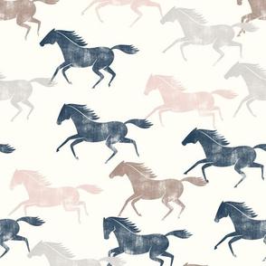 wild horses - multi (blue, silk pink, sand & stone)  - LAD19