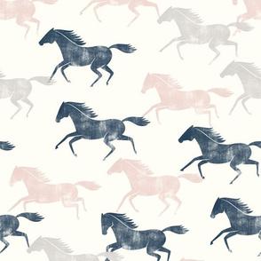 wild horses - multi (blue, silk pink, stone)  - LAD19