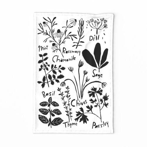 Herb Tea Towel 2020