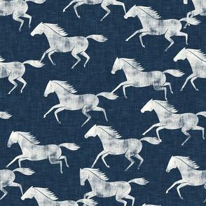 wild horses - denim blue - LAD19