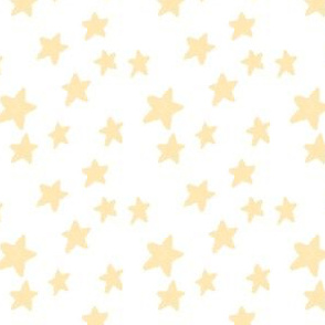 Pale Yellow Stars on White