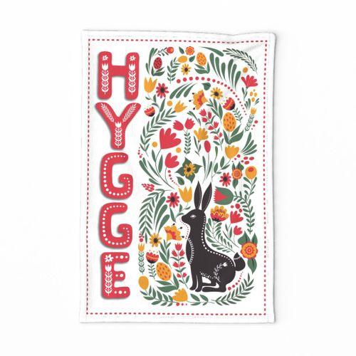 HYGGEHARE_FOLKARTTEATOWEL