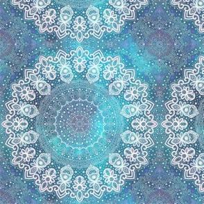 Project 449 | Mandala Stars on Blue Watercolor