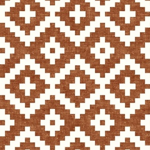 woven aztec - geometric - boho - ginger - LAD19