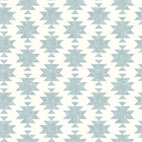 woven aztec - slight blue on cream  - LAD19