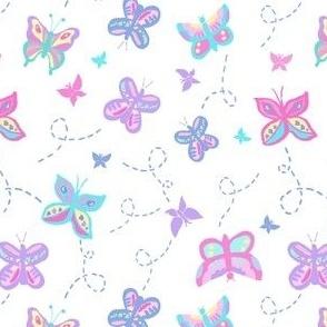 Buzzing Butterflies Pastel