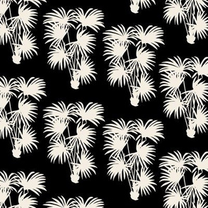 Palms Silhouette   Black and Off White