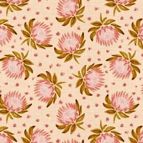 "African King Protea (almond linen) 6"""