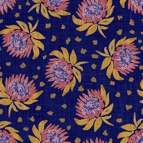 "African King Protea (blue linen) 18"""