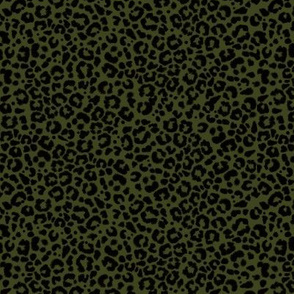 Ditsy Leopard - Olive