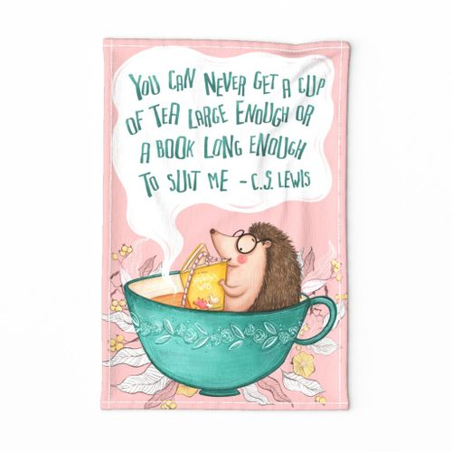 For the Love of Tea and Books- Tea Towel