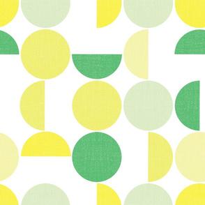 Circle screen print pattern