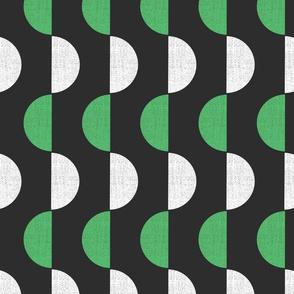 Mod Semicircle Screenprint Shapes