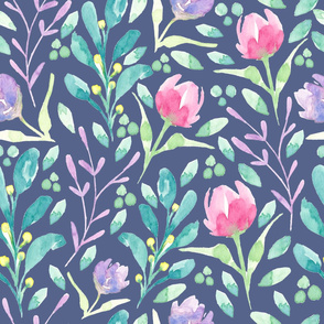 Dainty Florals Persian Blue