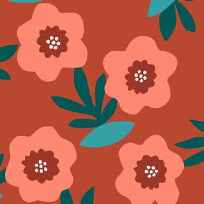 Bloom pattern in red