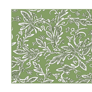 tea towel green chintz