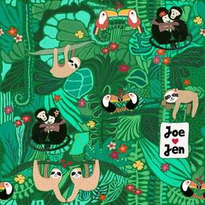 Sloth Wedding Joe and Jen