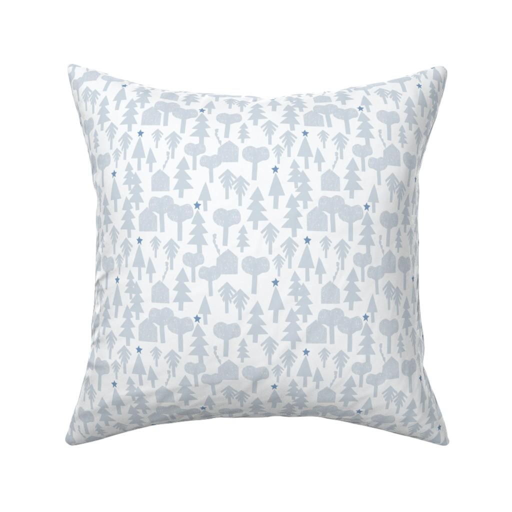 Catalan Throw Pillow featuring trees_white by alexmichiardi