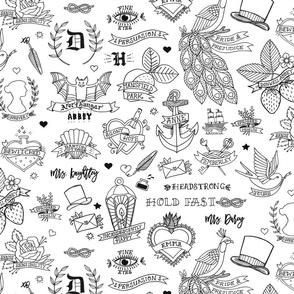 Jane Austen Tattoos - Half-size