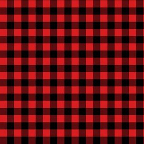 """6"""" Black and Red Gingham"""