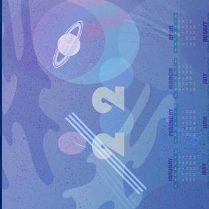 2020 Space calendar horizontal