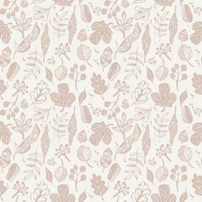 Inky Leaves - Blush