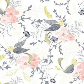 Chrysanthe Blossom Garden - Gray