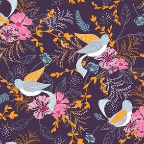 Chrysanthe Blossom Garden-Magenta