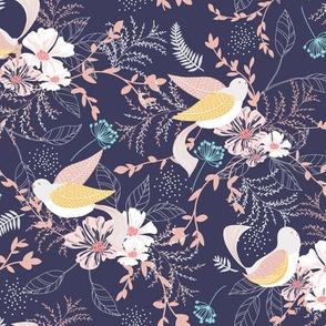 Chrysanthe Blossom Garden-Mauve