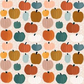 October's Pumpkin Harvest on Blush Dashes