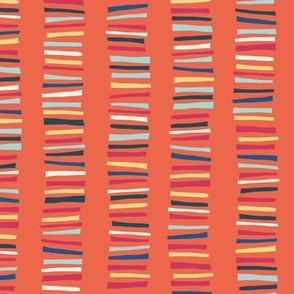 Papercut Stripes Orange