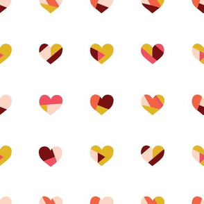 Valentine Hearts Collage
